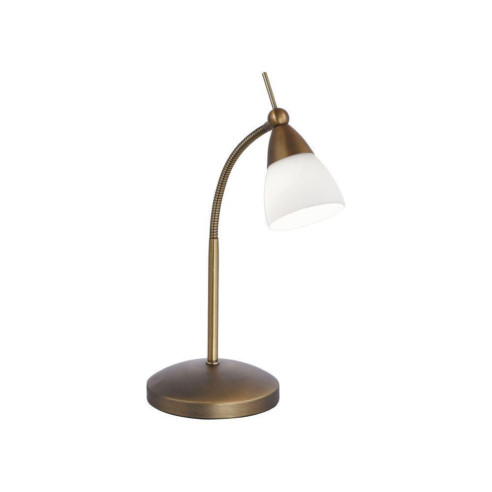 Flexible Touch Dimmable Table Lamp In Antique Brass Finish - ID 6411
