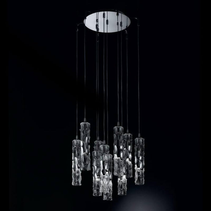 Bamboo Murano Glass 10 Light Ceiling Suspension Chandelier