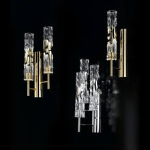 Becton Murano Glass Triple Light Wall Light - ID 8048