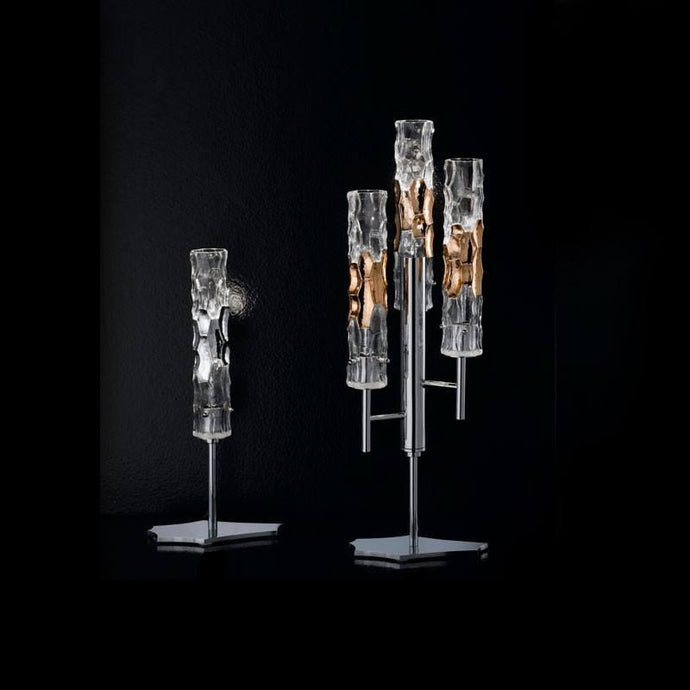 Bamboo Murano Glass Single Light Table Lamp
