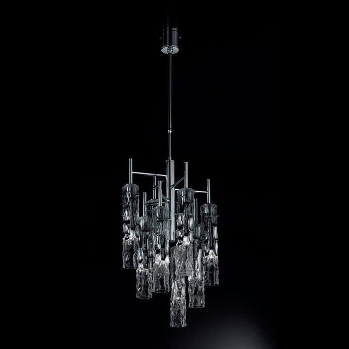 Bamboo Murano Glass 8 Light Suspension Chandeliers