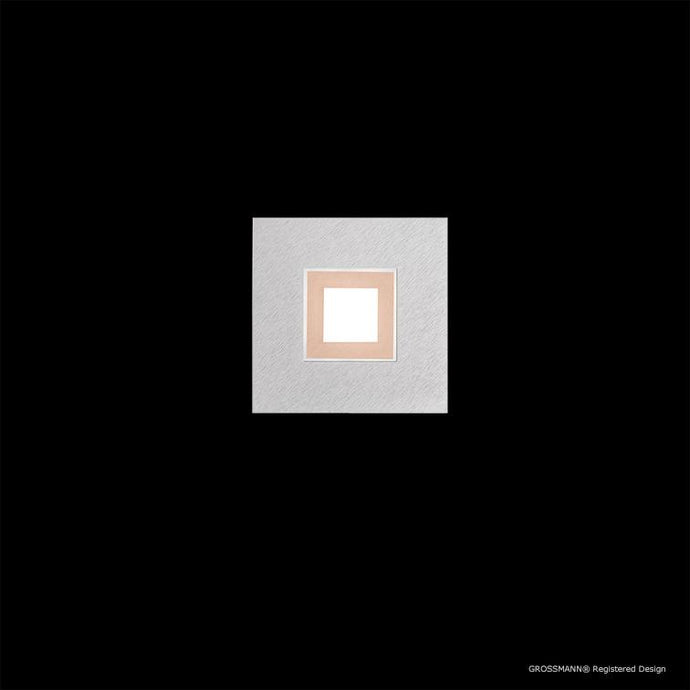 Grossmann KARREE Aluminium One Lamp Wall / Ceiling Light - Colour Frame Options