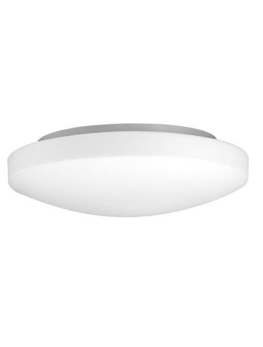 IVI White Opal Glass & White Metal Small Domed Bathroom Ceiling Light - ID 10907