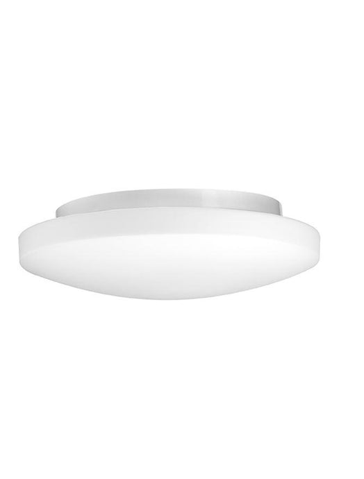 IVI White Opal Glass & White Metal Large Domed Bathroom Ceiling Light - ID 10909