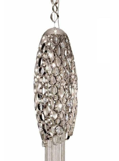 Chrysalis Large Suspension Pendant with LED in Base