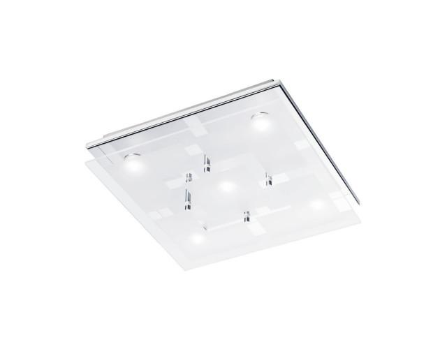 Flush Chrome Opaline Glass Light