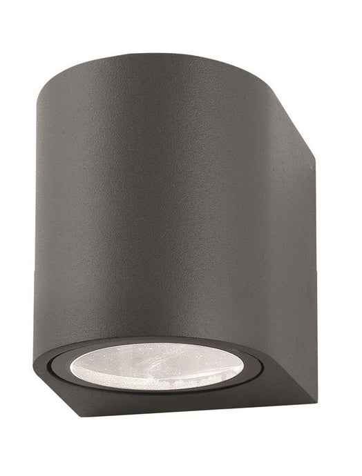 NER Compact Round Edge Matt Grey Outdoor Wall Down Light - ID 8640