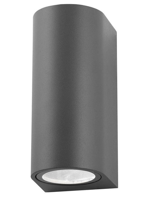 NER Compact Rounded Edge Matt Grey Outdoor Wall Up / Down Light - ID 8641