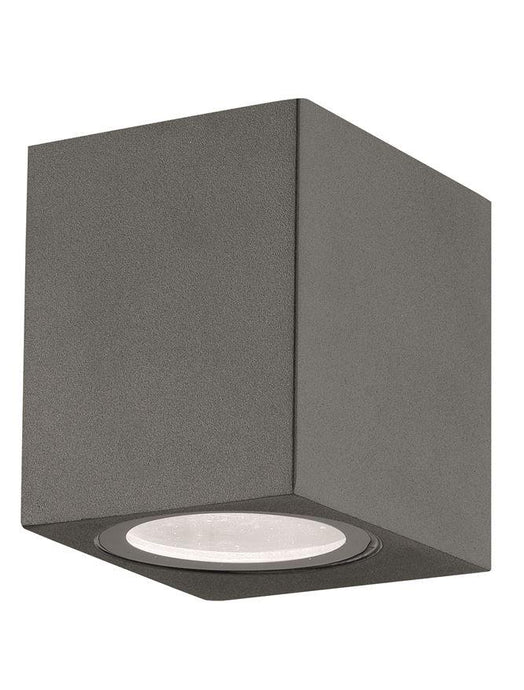 NER Compact Squared Edge Matt Grey Outdoor Wall Down Light - ID 8817