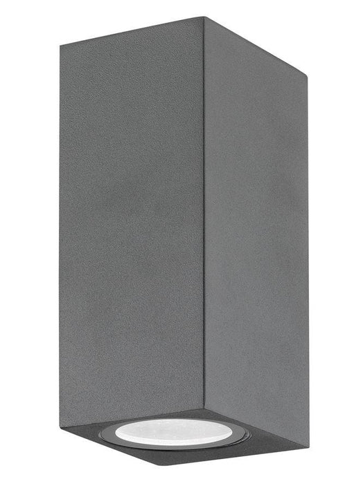 NER Compact Squared Edge Matt Grey Outdoor Wall Up / Down Light - ID 8816