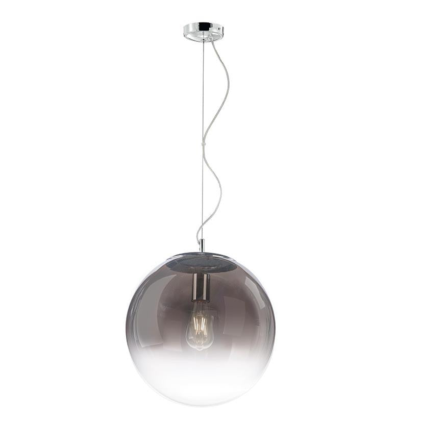 Gradient Smoked to Clear Round Glass Pendant 40cm - ID 7156