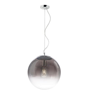 Gradient Smoked to Clear Round Glass Pendant 30cm - ID 7004