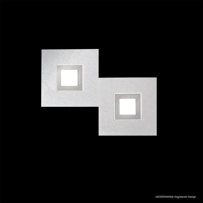 Grossmann KARREE Aluminium Two Lamp Wall / Ceiling Light - Colour Frame Options