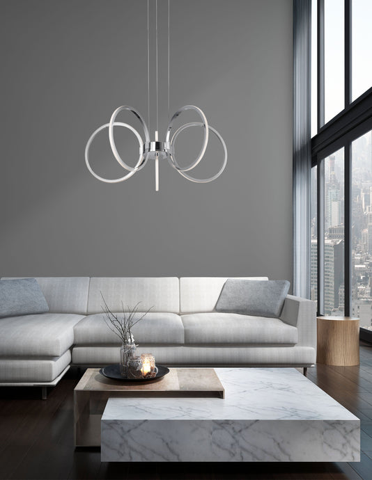 Addiscombe Chrome LED Pendant - ID 8608