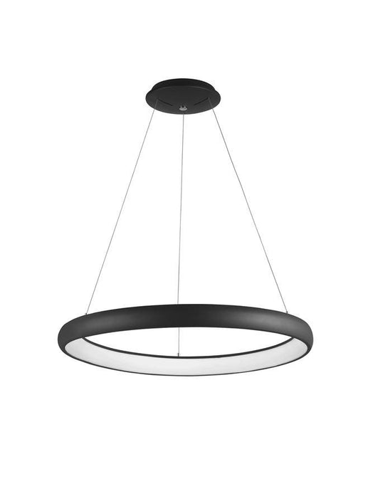 ALB Sandy Black Aluminium & Acrylic Dimmable Inner Light Ring Pendant Medium - ID 8966