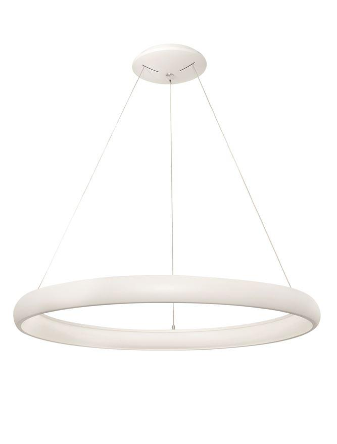 ALB Sandy White Aluminium & Acrylic Dimmable Inner Light Ring Pendant Large - ID 8768