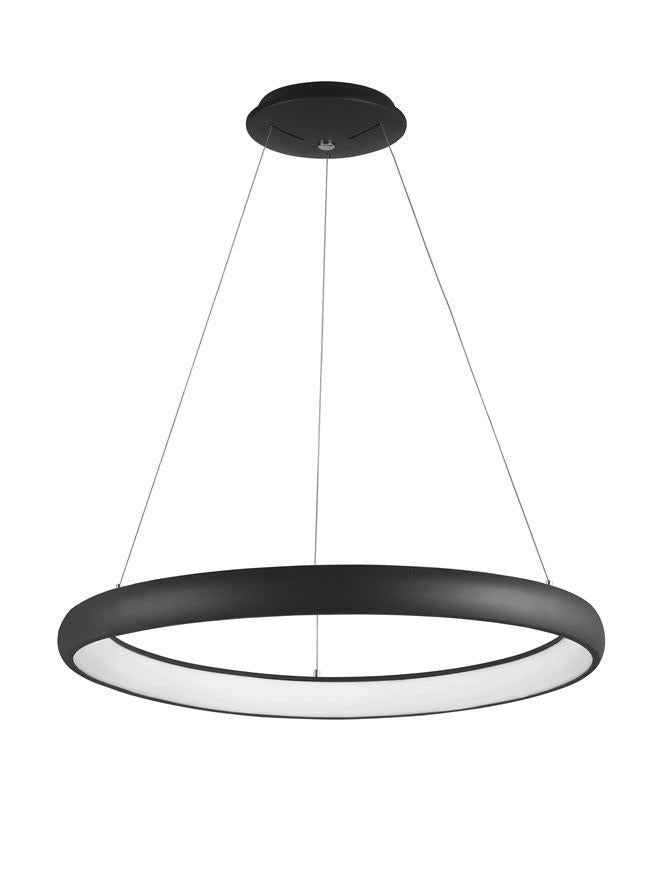 ALB Sandy Black Aluminium & Acrylic Dimmable Inner Light Ring Pendant Large - ID 10373
