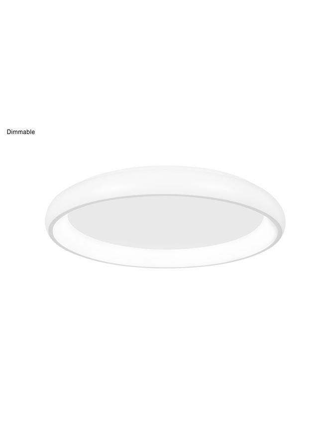ALB Sandy White Aluminium & Acrylic Dimmable Inner Light Ring Flush Small - ID 10390