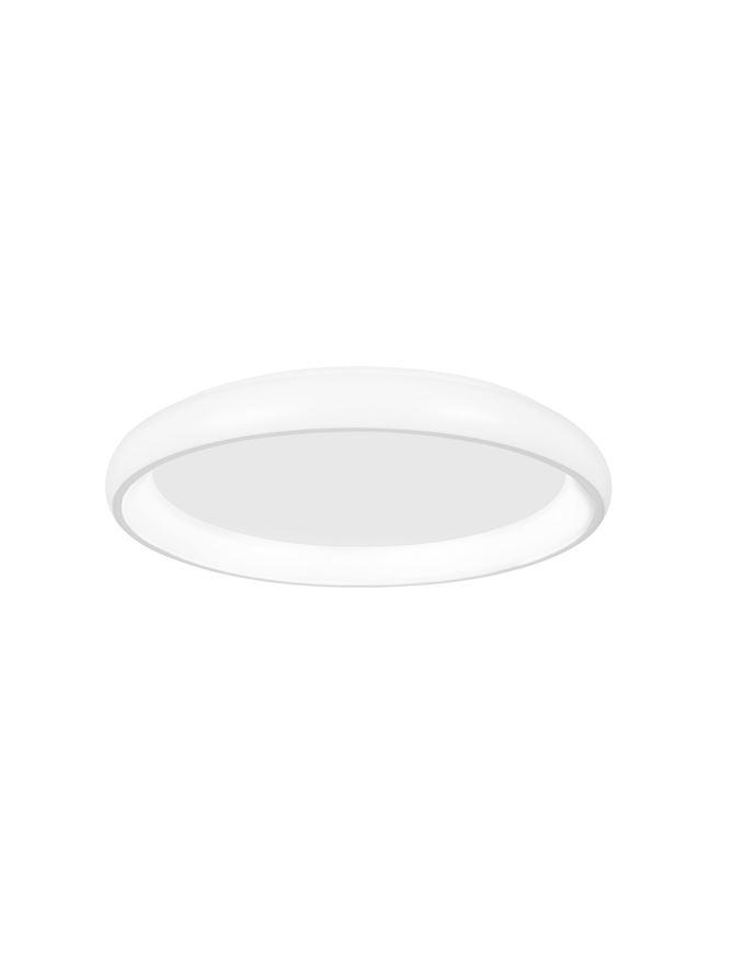 ALB Sandy White Aluminium & Acrylic Dimmable Inner Light Ring Flush Medium - ID 10387