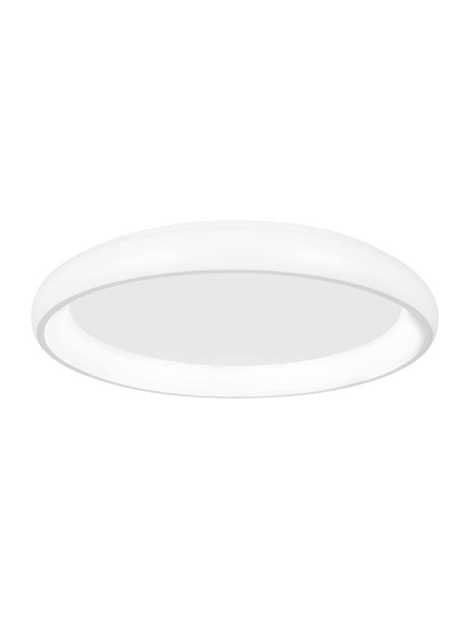 ALB Sandy White Aluminium & Acrylic Dimmable Inner Light Ring Flush Large - ID 10391