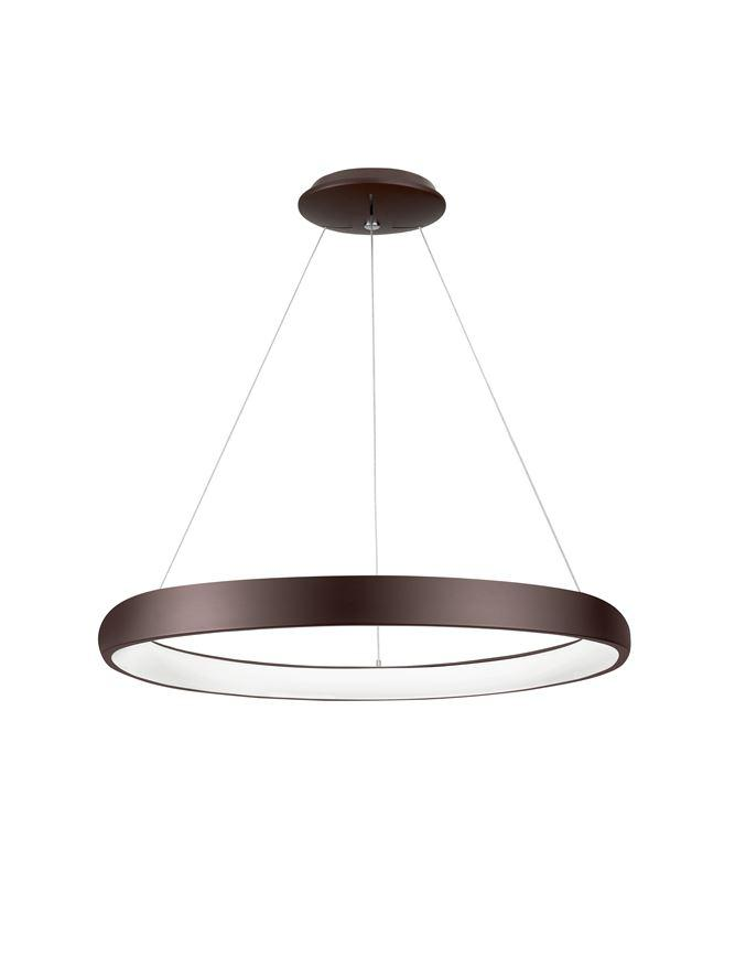ALB Coffee Brown Aluminium & Acrylic Dimmable Inner Light Ring Pendant Medium - ID 8770