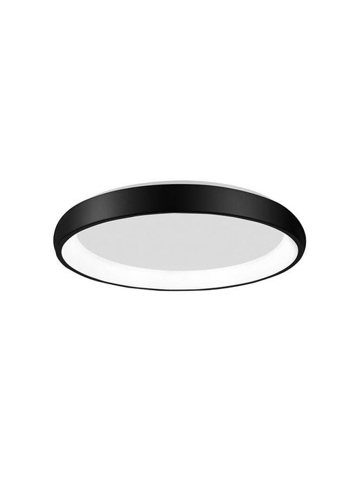 ALB Sandy Black Aluminium & Acrylic Dimmable Inner Light Ring Flush Medium - ID 10386