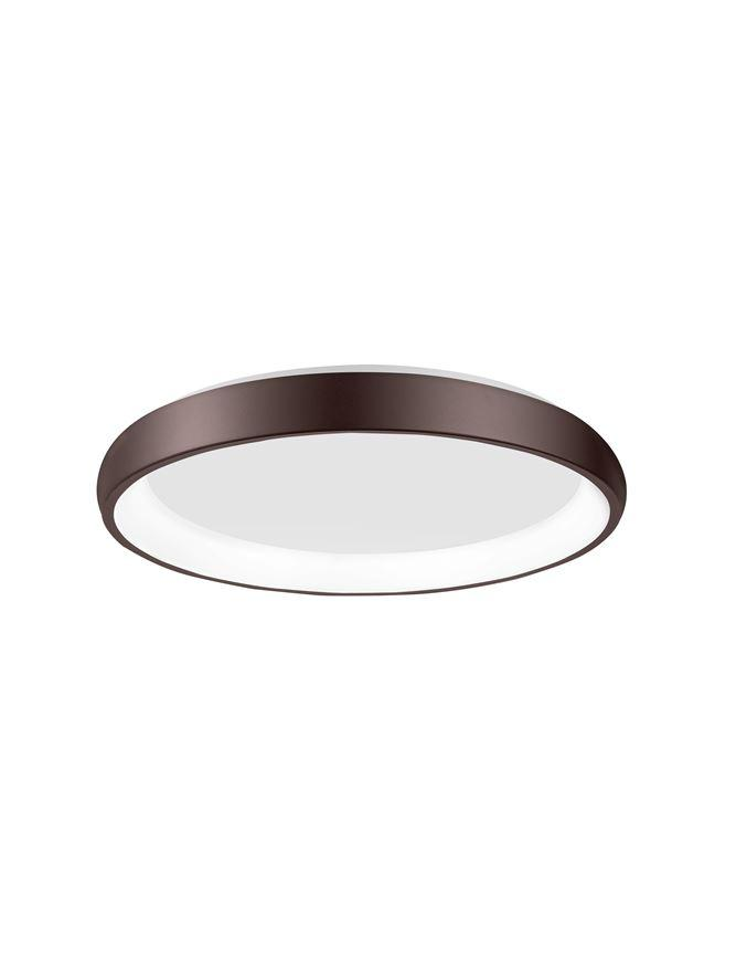 ALB Coffee Brown Aluminium & Acrylic Dimmable Inner Light Ring Flush Medium - ID 10384