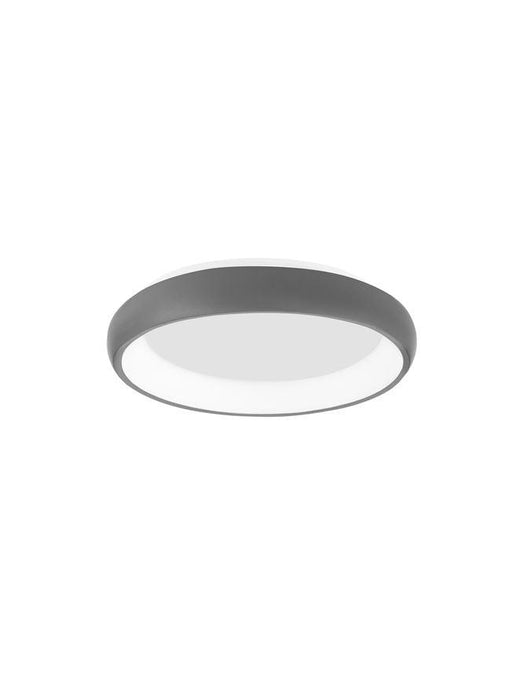 ALB Sandy Grey Aluminium & Acrylic Dimmable Inner Light Ring Flush Small - ID 10388