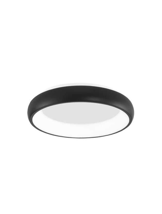ALB Sandy Black Aluminium & Acrylic Dimmable Inner Light Ring Flush Small - ID 10389
