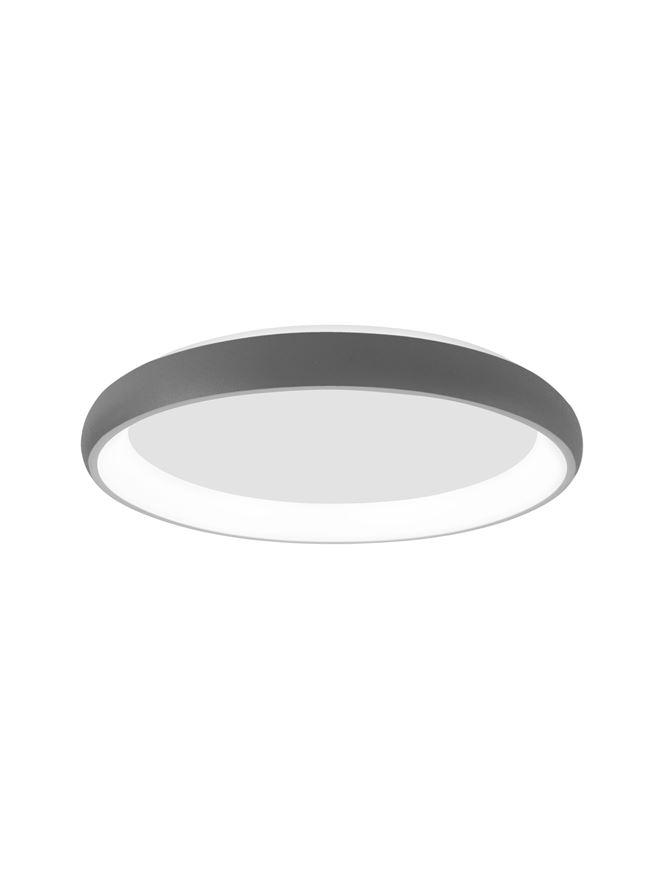 ALB Sandy Grey Aluminium & Acrylic Dimmable Inner Light Ring Flush Medium - ID 10385