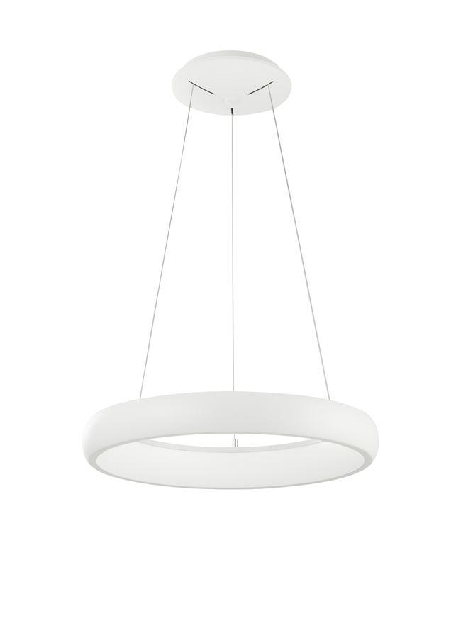 ALB Sandy White Aluminium & Acrylic Dimmable Inner Light Ring Pendant Small - ID 10374
