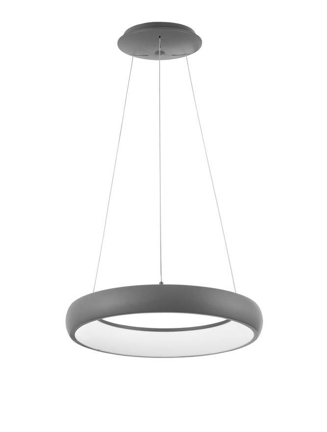 ALB Sandy Grey Aluminium & Acrylic Dimmable Inner Light Ring Pendant Small - ID 10375