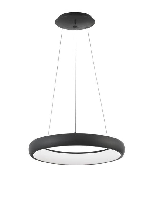 ALB Sandy Black Aluminium & Acrylic Dimmable Inner Light Ring Pendant Small - ID 10372