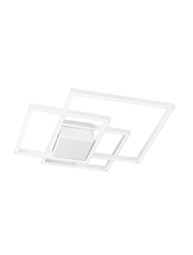 BIL White Aluminium & Acrylic Right Angle Medium Ceiling Light - ID 10577