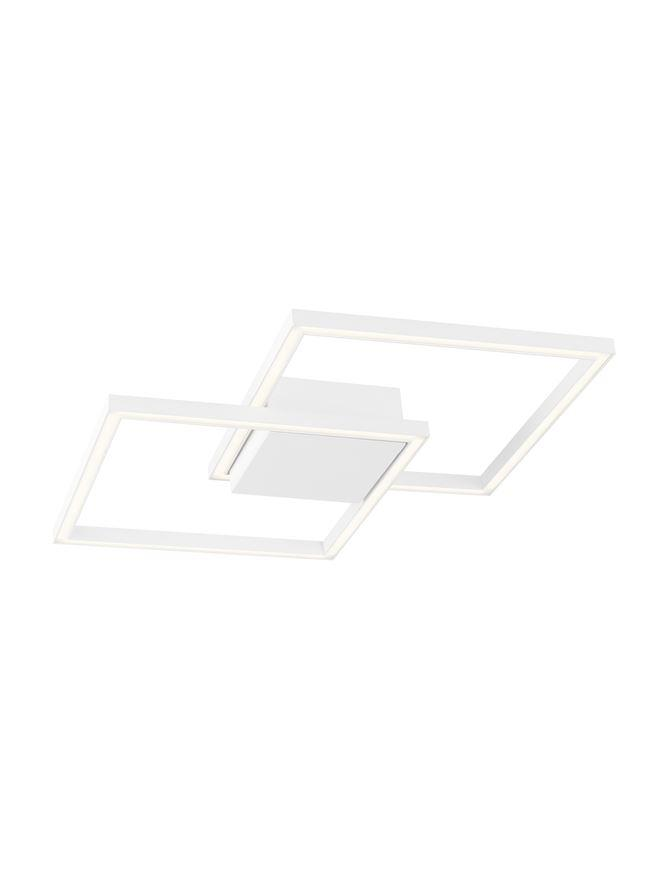 BIL White Aluminium & Acrylic Right Angle Small Ceiling Light - ID 10576