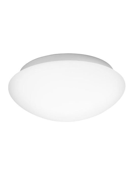 BRE White Opal Glass & Metal Small Bathroom Ceiling Light - ID 10904