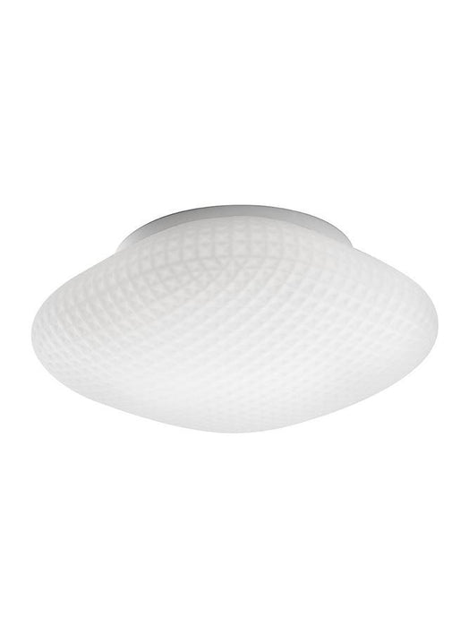 SEN White Glass & White Metal Bathroom Ceiling Light - ID 10903