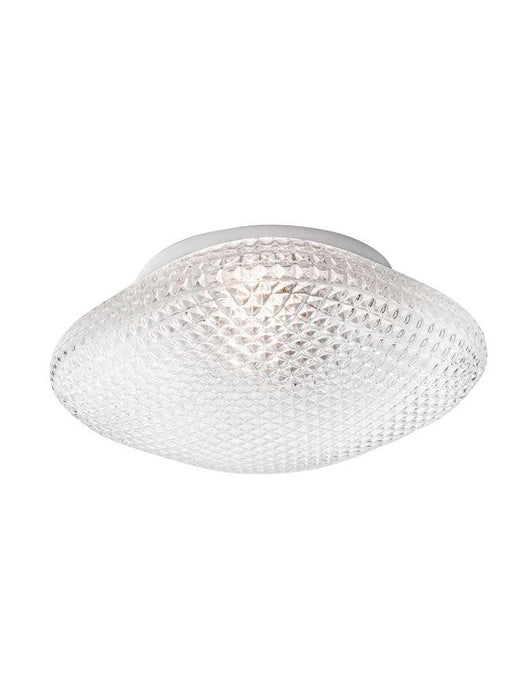 SEN Clear Glass & White Metal Bathroom Ceiling Light - ID 10902