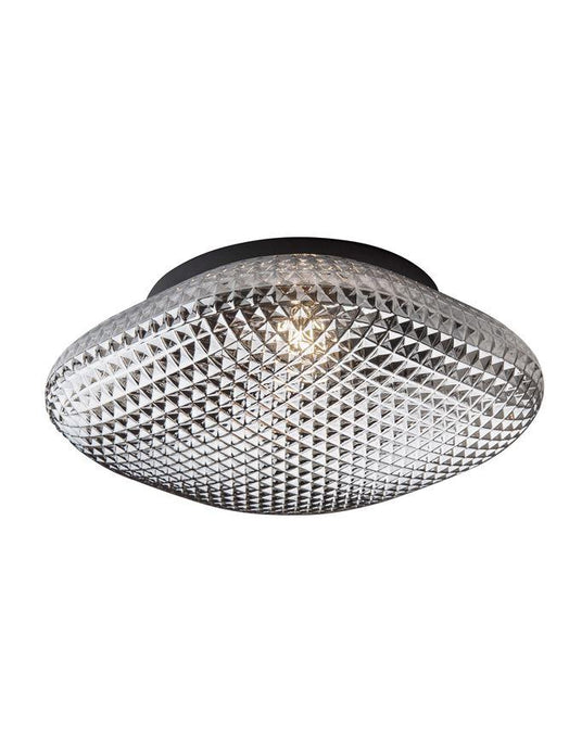 SEN Grey Glass & Black Metal Bathroom Ceiling Light - ID 10901