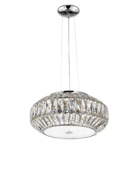 VAL Crystal & White Glass 6 Lamp Ceiling Light - ID 10569