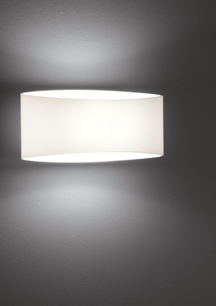 Voilà Glass Wall Sconce In White