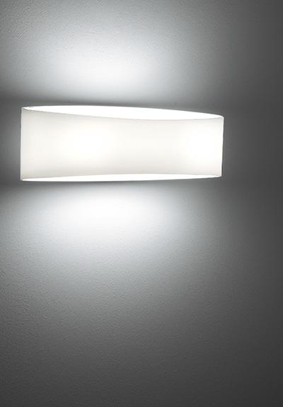 Voilà Large Glass Wall Sconce In White