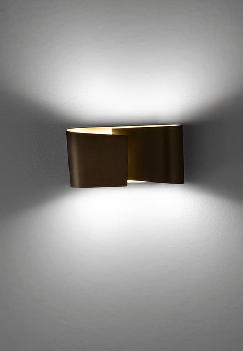 Filia S LED Wall Sconce in Hand-Brushed Old Bronze