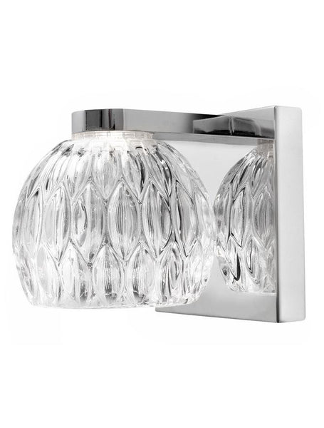 LAR Clear Glass & Chrome Aluminium Single Wall Light - ID 10567