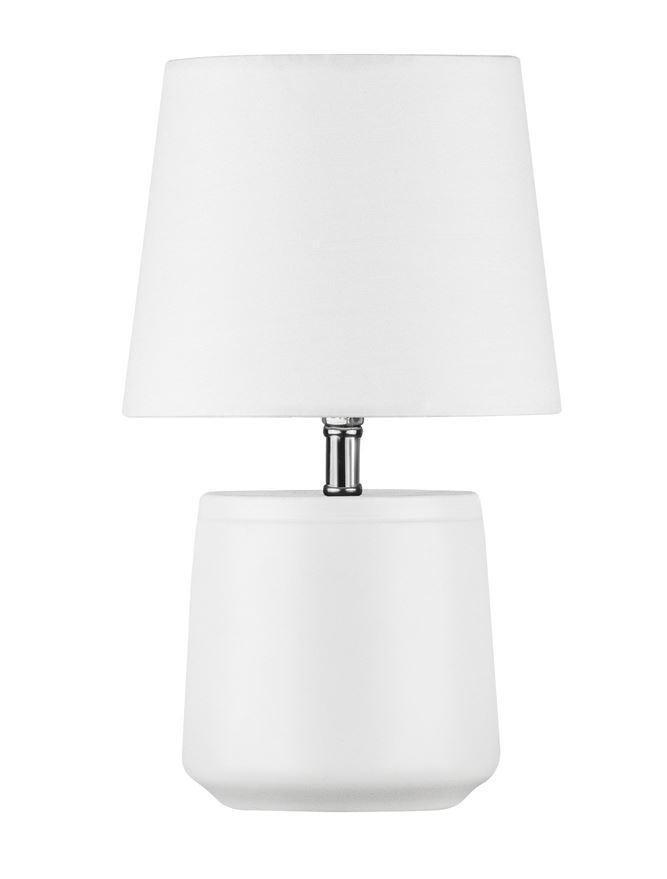Bettyhill Mini Table Lamp In White With Fabric Shade - ID 8962