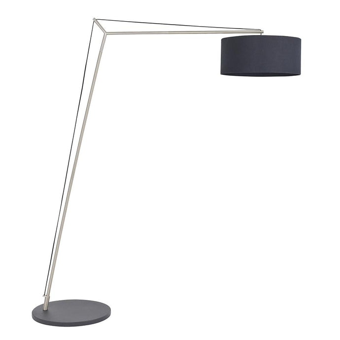 Leaning Matt Nickel Floor Lamp with Black Shade - ID 11036