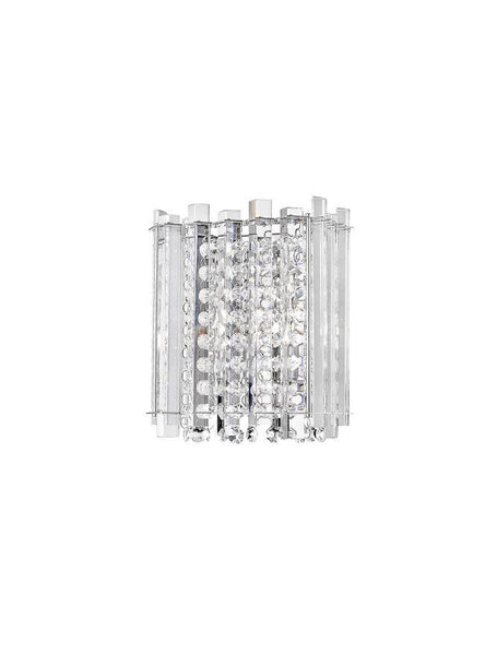 ELE Chrome Aluminium & K9 Crystal Wall Light - ID 10487