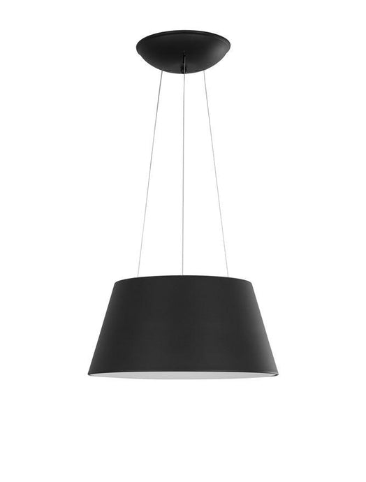 VOL Black Metal Tapered Drum With Acrylic Diffused Inner Pendant - ID 10447