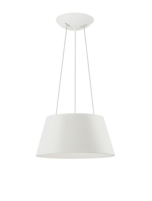 VOL White Metal Tapered Drum With Acrylic Diffused Inner Pendant - ID 10448