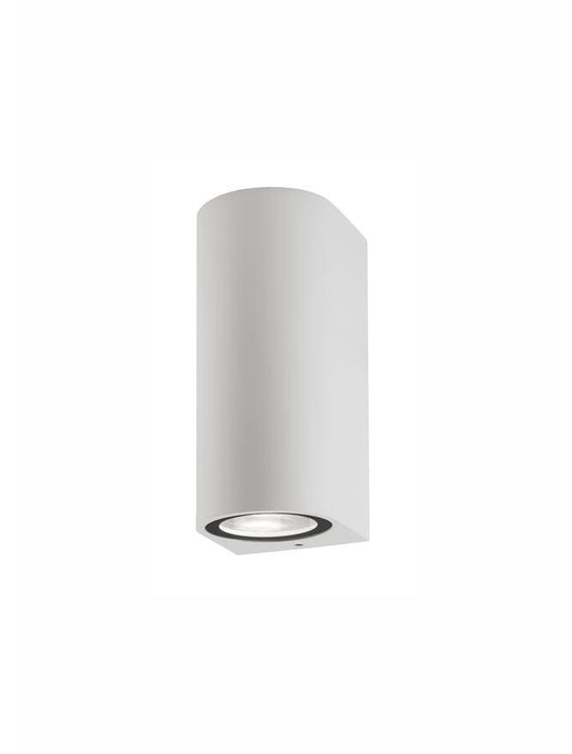 NER Compact Rounded Edge White Outdoor Wall Up / Down Light - ID 10822